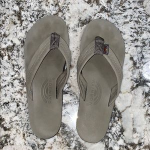 Rainbow 🌈 flip flops